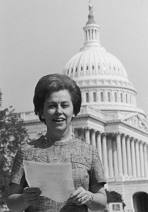 Rep. Martha Griffiths, D-Michigan, steered the Equal Rights Amendment through Congress. It failed to be ratified by the states, thanks to a backlash led by Phyllis Schlafly, an Illinois lawyer portraying herself as a happy housewife. (Warren D. Leffler)