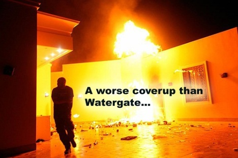 Watergate was a systematic attack on the Constitution. Benghazi was a terrorist attack on a consulate.
